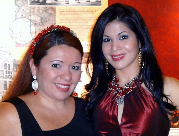 Evelyn Brooks with Fanny Gutierrez of Noticias Univision Washington DC