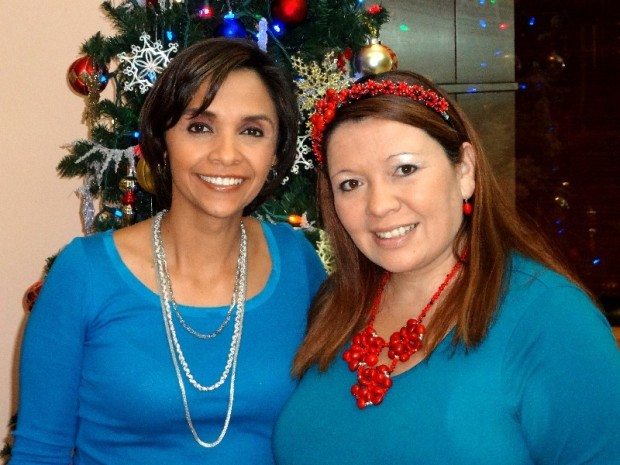 News Anchor Maria Rosa Lucchini with Evelyn Brooks