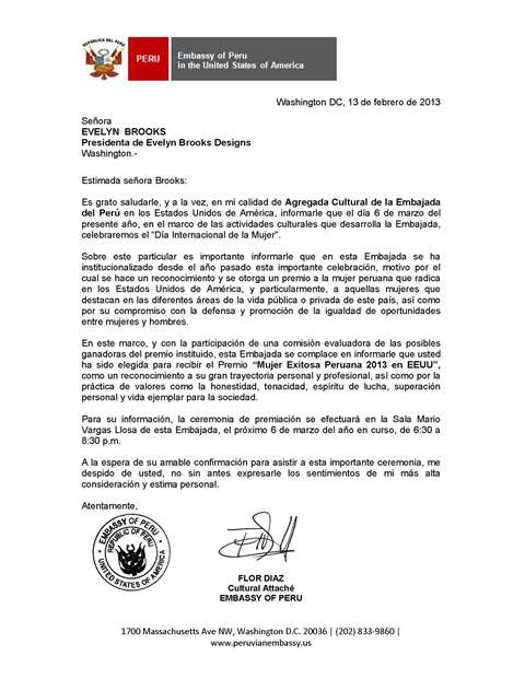 Mujer Exitosa Peruana 2013