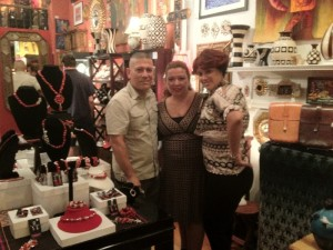 Hector Zarate (Owner of Toro Mata), Evelyn Brooks & Christine Brooks Cropper (President of the Greater Washington Fashion Chamber of Commerce)