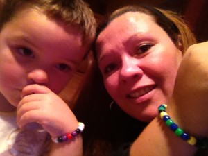 Mommy & Tyler's favorite things to do together: Beading jewelry;) Keep US busy