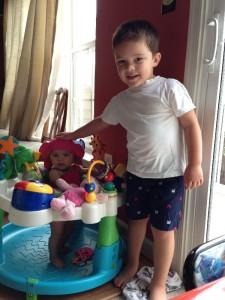 Tyler & his little sister Stella Rose